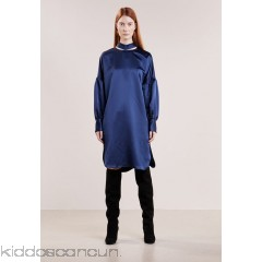 By Malene Birger WONKA      - Cocktail dress / Party dress - blue velvet - Womens Cocktail Dresses BY121C03A-K11