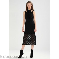 Lost Ink BODYCON FRILL SHOULDER DRESS - Cocktail dress / Party dress - black - Womens Cocktail Dresses L0U21C06R-Q11