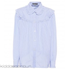 AlexaChung Ruffled striped cotton shirt - Womens Blouses P00286043