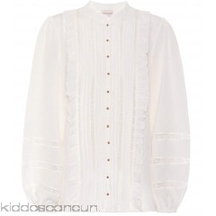 Zimmermann Ruffle and lace trimmed silk blouse - Womens Blouses P00315577