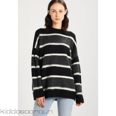 AllSaints EDI CREW - Jumper - black/white - Womens Jumpers A0Q21I01S-Q11