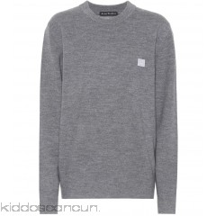 Acne Studios Nalon Face wool sweater - Womens Sweatshirts P00307612