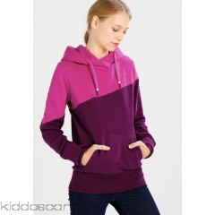 Bench HOODY COLOR BLOCK - Hoodie - plum caspia - Womens Sweatshirts BE621J062-I11