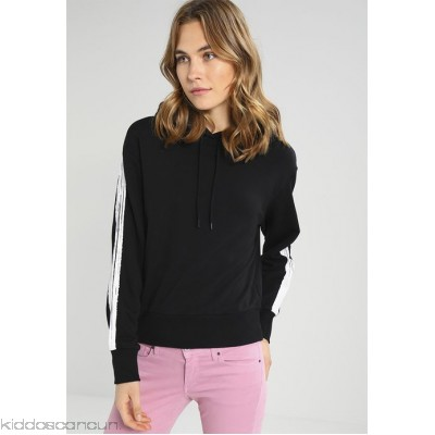 Cheap Monday RUSH HOOD BRUSH STROKES - Hoodie - black - Womens Sweatshirts CH621J01I-Q11