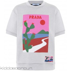 Prada Printed cotton-blend sweatshirt - Womens Sweatshirts P00299811