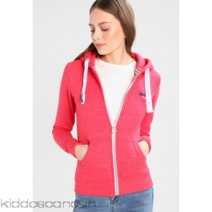 Superdry ORANGE LABEL PRIMARY ZIPHOOD - Tracksuit top - wild cherry jaspe - Womens Sweatshirts SU221J0OU-G11