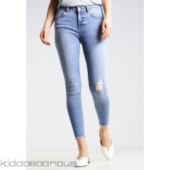 Pieces PCFIVE DELLY - Jeans Skinny Fit - light blue denim - Womens Skinny Jeans PE321N024-K11