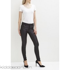 Vila VICOMMIT ZIP COATED - Jeans Skinny Fit - black - Womens Skinny Jeans V1021N03I-Q11
