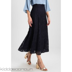 IVY & OAK LACE MIDI SKIRT - Maxi skirt - navy blue - Womens Maxi Skirts IV321B00L-K11