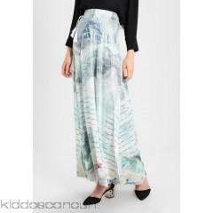 Smash TRIBU - A-line skirt - light blue - Womens Maxi Skirts SM421B01H-K11