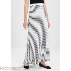 Zalando Essentials Maxi skirt - white/dark blue - Womens Maxi Skirts ZA821B000-A11