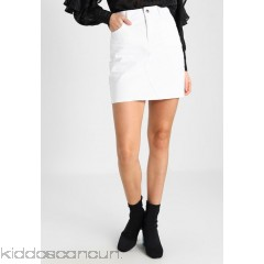 Dorothy Perkins SKIRT - Denim skirt - white - Womens Denim Skirts DP521B09A-A11
