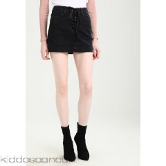 Double Agent Denim skirt - black - Womens Denim Skirts DOD21B005-Q11