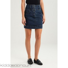 Lost Ink SKY HIGH WAIST MINI SKIRT  - Denim skirt - blue - Womens Denim Skirts L0U21B01W-K11