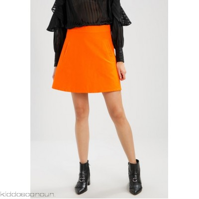 Mads N酶rgaard STELLY SHORT - A-line skirt - deep orange - Womens Denim Skirts M1421B026-H11
