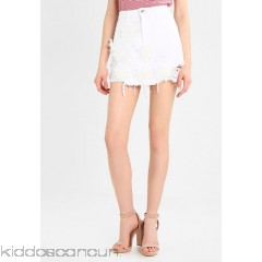 River Island A-line skirt - white - Womens Denim Skirts RI921B04A-A11