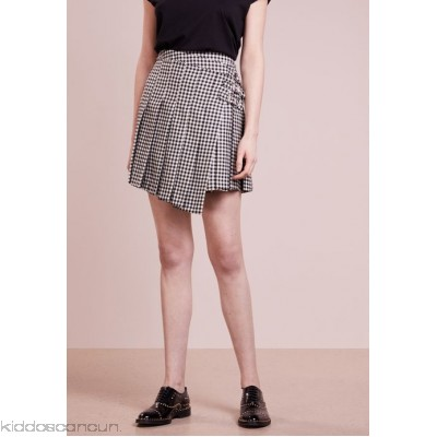 McQ Alexander McQueen WRAP KILT SKIRT - A-line skirt - black - Womens Pleated Skirts MQ121B000-Q11