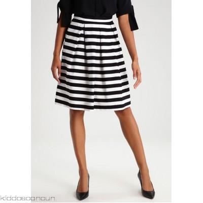 mint&berry A-line skirt - black/white - Womens Pleated Skirts M3221BA4F-Q11