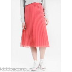 Tommy Jeans PLEATED MIDI SKIRT - A-line skirt - spiced coral - Womens Pleated Skirts TOB21B006-G11
