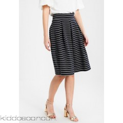 Anna Field A-line skirt - off white/dark blue - Womens A-Line Skirts AN621B049-A11