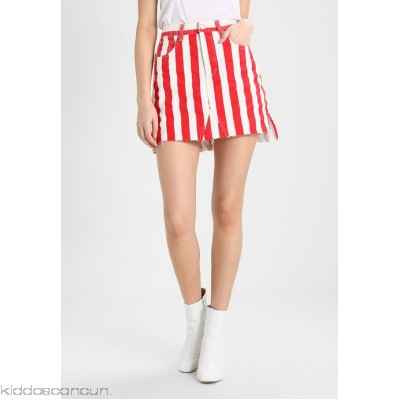 Glamorous A-line skirt - red/white - Womens A-Line Skirts GL921B03G-G11