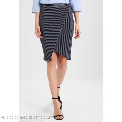 Anna Field Pencil skirt - dark blue/offwhite - Womens Pencil Skirts AN621B04G-K11
