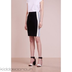 DESIGNERS REMIX CASEY SKIRT - Pencil skirt - black/white/pastel blue - Womens Pencil Skirts DEA21B009-Q11