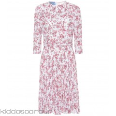 Prada Floral-printed crêpe dress - Womens Mini Dress P00299957
