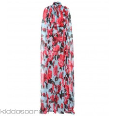 Dolce & Gabbana Floral-printed silk gown - Womens Maxi Dresses P00316627