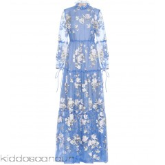 Erdem Cassandra embroidered silk gown - Womens Maxi Dresses P00288506