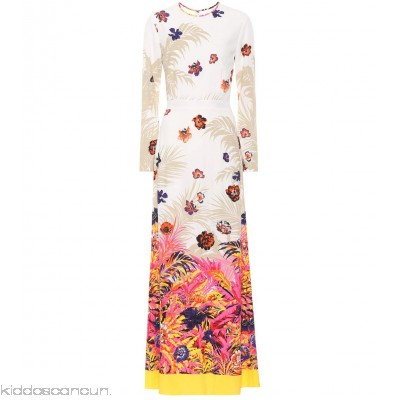 MSGM Floral-printed maxi dress - Womens Maxi Dresses P00293130