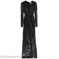 Saint Laurent Metallic velvet dress - Womens Maxi Dresses P00263477