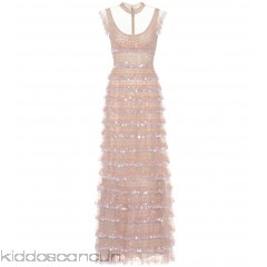 Valentino Sleeveless sequin-embellished dress - Womens Maxi Dresses P00272092