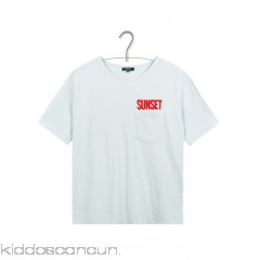 FRNCH - Women - Round-neck cotton T-shirt with pocket SuWfCESF