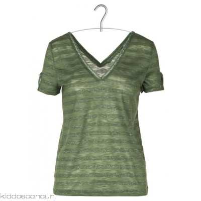 GRACE ET MILA - Women - Striped V-neck T-shirt with plunge back Errp7jhs