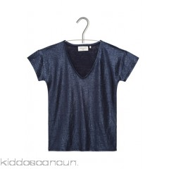 MARIE SIXTINE - Women - Céleste coated linen V-neck T-shirt Ovsy30hQ