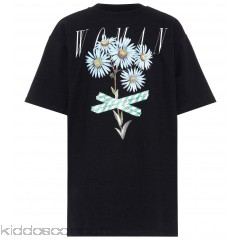 Off-White Printed cotton-blend T-shirt - Womens T-Shirts P00309565