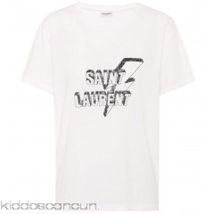 Saint Laurent Printed cotton T-shirt - Womens T-Shirts P00316750