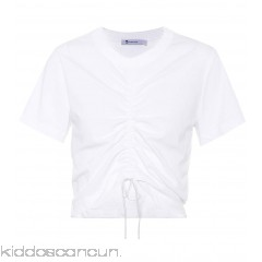 T by Alexander Wang Cotton drawstring T-shirt - Womens T-Shirts P00293053