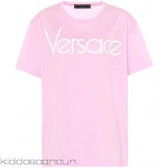 Versace Embroidered cotton T-shirt - Womens T-Shirts P00315687