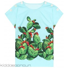 Dolce & Gabbana Exclusive to mytheresa.com – printed cotton top - Womens Short Sleeved T-Shirts P00271059