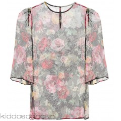 Dolce & Gabbana Floral-printed silk top - Womens Short Sleeved T-Shirts P00307061
