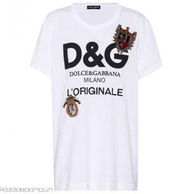 Dolce & Gabbana Printed cotton-blend T-shirt - Womens Short Sleeved T-Shirts P00275307