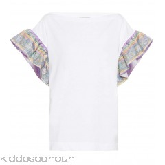 Emilio Pucci Cotton and silk T-shirt - Womens Short Sleeved T-Shirts P00297942