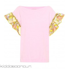 Emilio Pucci Cotton jersey top - Womens Short Sleeved T-Shirts P00312463