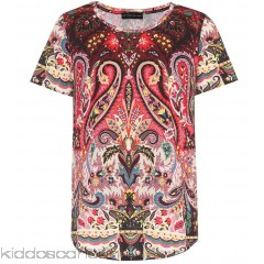 Etro Paisley-printed cotton T-shirt - Womens Short Sleeved T-Shirts P00303228