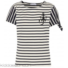 JW Anderson Striped cotton T-shirt - Womens Short Sleeved T-Shirts P00286288