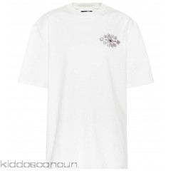 McQ Alexander McQueen Crystal-embellished cotton T-shirt - Womens Short Sleeved T-Shirts P00319553
