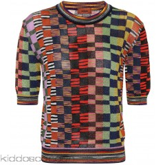 Missoni Metallic knitted top - Womens Short Sleeved T-Shirts P00300006