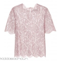 Valentino Metallic lace top - Womens Short Sleeved T-Shirts P00320500